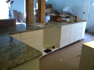 Drawers are in on the island! Don't they look awesome?